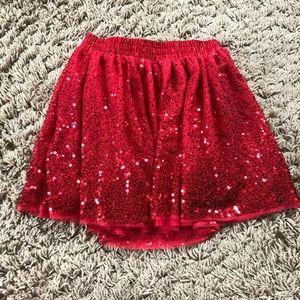 Girls Cat & Jack red sequin skirt